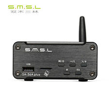 SMSL SA-36A PLUS Power Amplifier 30W*2 USB/Bluetooth/AUX/TF/U disk 24V Supply B