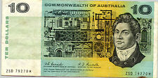 Australia R-302sF. Coombs/Randall $10 STAR NOTE First Prefix ZSD. Extra Fine, EF