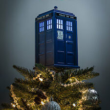 Dr DOCTOR WHO Official BBC Light Up TARDIS Christmas TREE TOPPER Statue Holiday