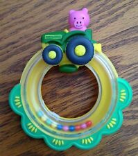 John Deere Tractor Ring Rattle/Teether by The First Years