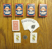 4 NEW DECKS OF MINI PLAYING CARDS MINITURE PLASTIC COATED TINY POKER CARD DECK