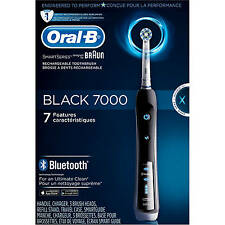 Oral-B Pro 7000 SmartSeries Black Electronic Power Rechargeable Battery Electric