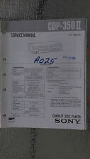Sony cdp-350 ii Service Manual Original Book cd compact disc player stereo
