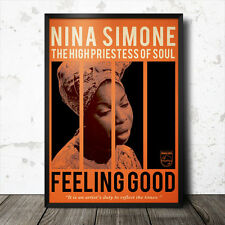 Nina Simone Art Poster MusicBlues Jazz Blue Note