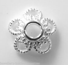 1x 925 sterling silver 10mm Round Filigree Bead Caps with 2.5mm Hole