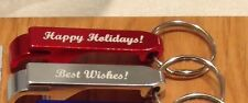 Qty 10 - Personalized Key Chain Bottle and Can Opener - Merry Christmas Gift Tag
