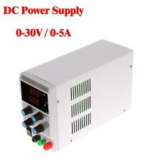 Adjustable Power Supply 30V 5A Precision Variable DC Digital Lab Grade EU O4G7