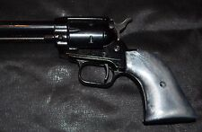 Heritage Rough Rider pistol grips silver plastic with screw