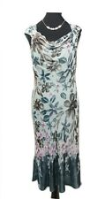 PHASE EIGHT Dress Size 10 Blue Pink Floral L48 Designer Silk Blend Wedding