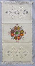 """Ukrainian Embroidered Easter Basket Cover,Rushnyk,Towel, Pysanky Eggs, Linen 27"""""""