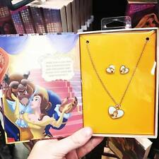 Primark disney beauty & the beast filles collier boucles d'oreilles bijoux jewelry