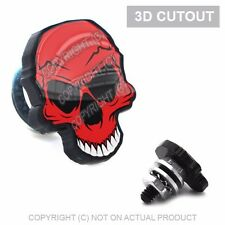 2 Skull 3D Cut Out Motorcycle License Plate Frame Bolts Tag Fasteners RED BLACK