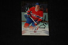 DOUG JARVIS 2008-09 UPPER DECK CANADIENS SIGNED AUTOGRAPHED CARD #47