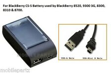 Blackberry Stand Alone Battery Charger for 8520 & 9300 3G Curve & USB Cable