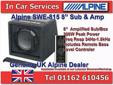 "Alpine SWE-815 Car 8"" Active Amplified Subwoofer Box 300W Compact Sub Box & Amp"