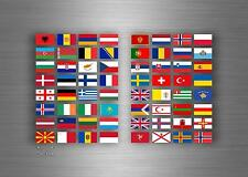 Set 64x sticker european europe flag scrapbooking country collection stamp 5cm
