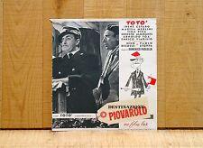 DESTINAZIONE PIOVAROLO fotobusta poster Totò Paolo Stoppa Capostazione 1955 A77