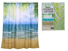 Waterproof Novelty Beach Shower Curtain Luxury Gift Vinyl PVC Bathroom 180x180cm