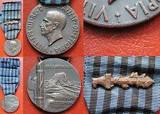 ITALIAN FASCIST MEDAL COLONIAL WAR 1936 AFRICA ORIENTALE WITH GLADIO FERT A.O.I.