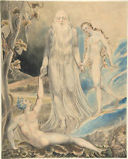 William Blake Art : Angel of the Divine Presence:Creation of Eve: Fine Art Print