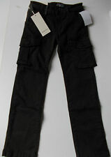 BNWT EDDIE PEN ITALY BOYS LUXURY BROWN CARGO PANTS TROUSERS 8 YEARS