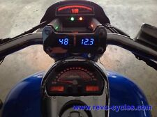 REVO M109R M1800R VZR1800  Voltmeter + Temperature Gauges + Chrome Riser Mount