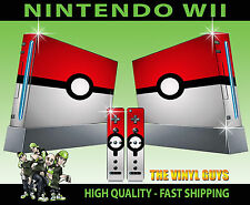 NINTENDO WII STICKER POKEBALL POKEMON GO SKIN GRAPHIC & 2 PAD SKIN