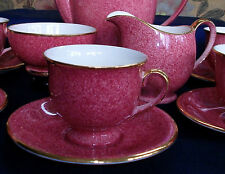 ROYAL WINTON-ART DECO-MOTTLED PINK-#5333-DEMI CUP & SAUCER SET(S)- RARE!! MINT!!