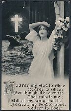 "OFFICIAL TITANIC ""IN MEMORIAM"" USED POST CARD WITH MINOR FAULT BT626"
