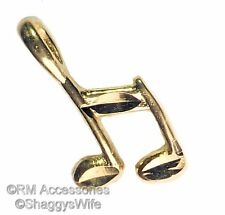 Double 8th Music Note Charm EP 24k Gold Plated with a Lifetime Guarantee
