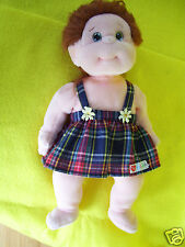Ty Beanie Kid Ginger Dressed in Ty Gear Red Plaid Dress & Panties