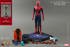 "HOT TOYS AMAZING SPIDER-MAN 2 EXCLUSIVE 12"" Figure Sideshow Movie Spiderman"