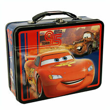 Disney CARS MCQUEEN & MATER Metal Lunch Box Gift Bag Carry All Treasure Case NEW