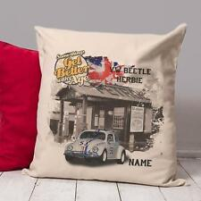 Personalised VW BEETLE HERBIE Classic Car Vintage Cushion Cover Dad Gift