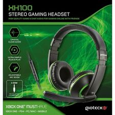Gioteck xh100 Wired Stereo Cuffie Gaming VERDE (XBOX one/ps4/pc/wii U)