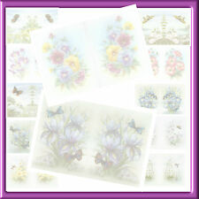 A6  BLANK  FLORAL INSERTS  FOR YOUR CARD MAKING  X PACK OF 24