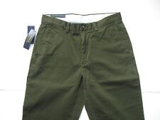 POLO RALPH LAUREN Men's Classic-Fit Olive Green Flat Front Chino Pant 36x30