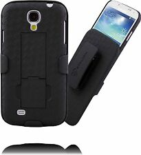 Stalion® Secure Belt Clip Holster & Shell Case w Kickstand for Samsung Galaxy S4
