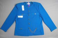 *** AS IS *** ST JOHN KNITS COLLECTION LOGO BUTTONS KNIT JACKET 14 (12291)