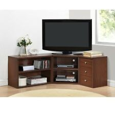 Corner TV Stand Wood Flat Screen Entertainment Center Media Console Cabinet Oak