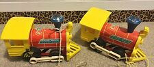 Vintage Fisher Price Wooden Toot Toot Train Pull Toy #643