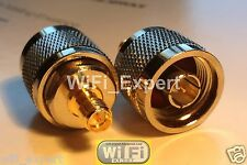 N Type Male Jack to RP-SMA Female Plug straight RF adapter connector USA