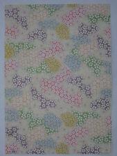 papier peint pour cartonnage ou reliure (thème: fleur douce, pastel) 68X48cm
