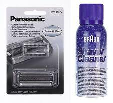 Panasonic Wes 9012y scherfolie + cuchilla es8813 es8043 + marrón limpieza spray