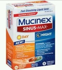 Mucinex Sinus-Max Liquid Gels for Day and Night - Lot of 3