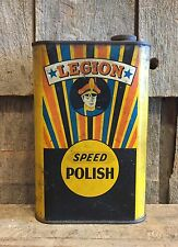 Rare Vintage LEGION Speed Polish Auto Furniture Radio Croydon Lowell MA Can