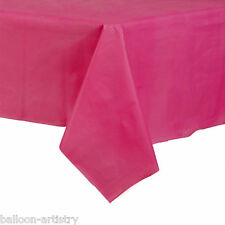 54x108in Magenta Pink Plastic Tablecover Table Cover Cloth Wedding Catering