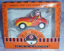 New Dept 56 Lenox Glitterville Halloween Ornament Devil In Orange Car Christmas
