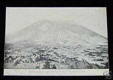 Glass Magic lantern slide MOUNT ETNA C1890 SICILY ITALY VOLCANO