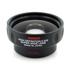 0.45x Wide Angle Lens with Macro for Canon camera, Japan made, free US shipping